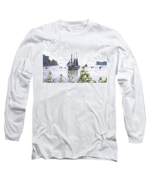 Tall Ship Tswc Long Sleeve T-Shirt by Jim Brage