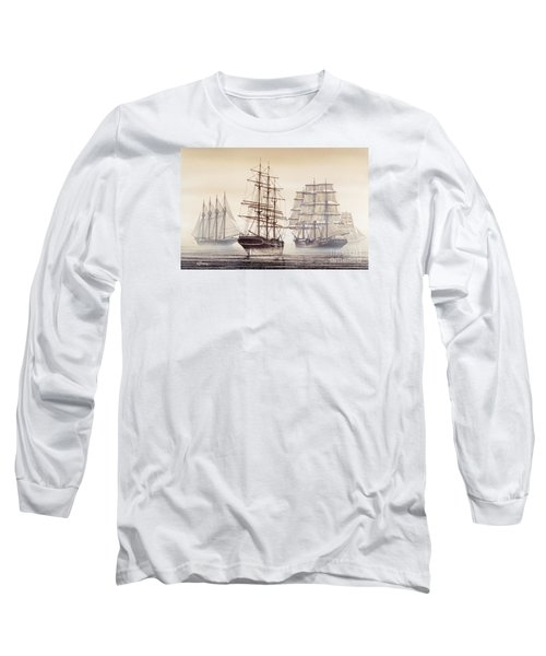 Tall Ships Long Sleeve T-Shirt by James Williamson