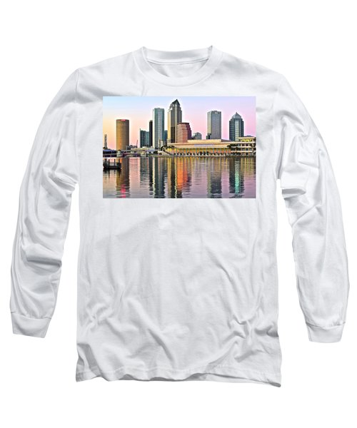 Tampa In Vivid Color Long Sleeve T-Shirt by Frozen in Time Fine Art Photography