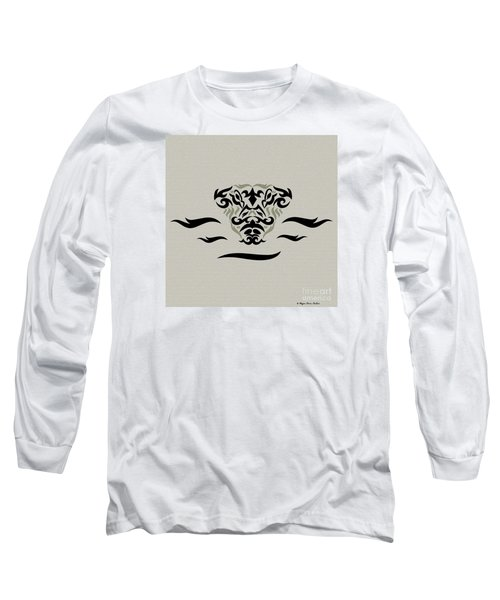 Long Sleeve T-Shirt featuring the digital art Tan Tribal Gator by Megan Dirsa-DuBois