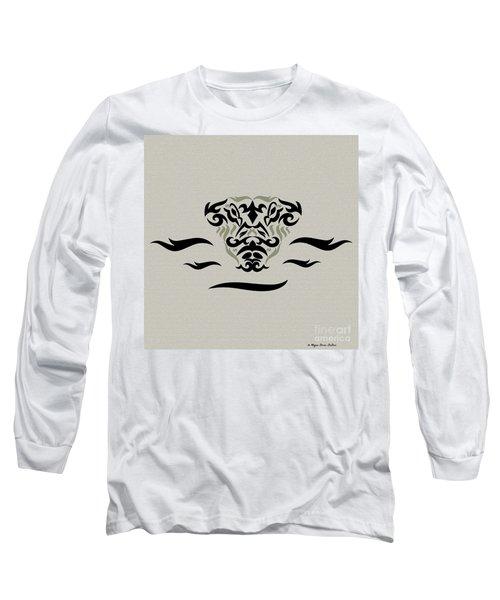 Tan Tribal Gator Long Sleeve T-Shirt