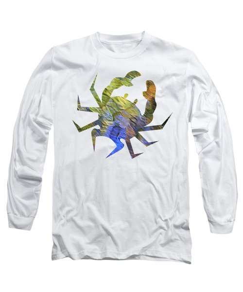 Long Sleeve T-Shirt featuring the photograph Tangerine Twist Mosaic Abstract Art by Christina Rollo