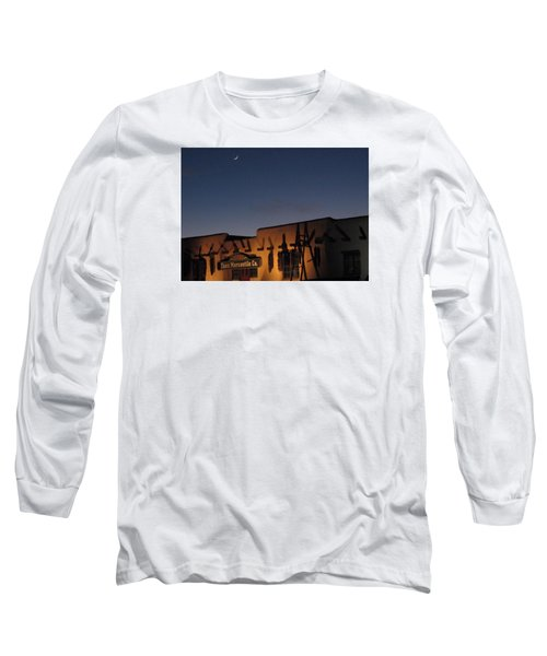 Taos Plaza Long Sleeve T-Shirt by Christopher Kirby