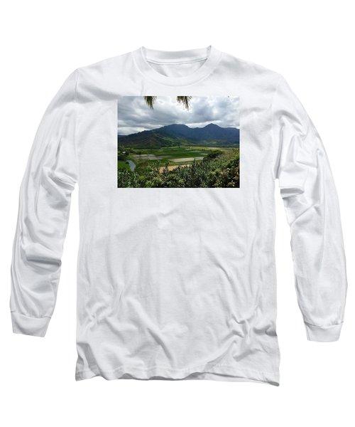 Long Sleeve T-Shirt featuring the photograph Taro Fields On Kauai by Brenda Pressnall