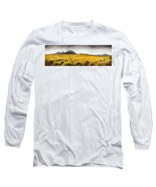 Tasmania Mountains Of The East-west Great Divide  Long Sleeve T-Shirt