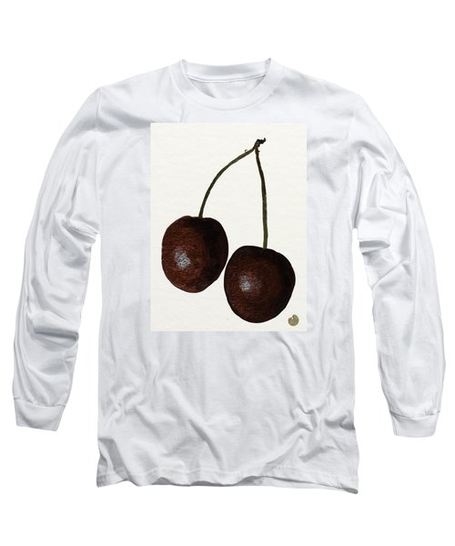 Tasty Red Cherries Long Sleeve T-Shirt by Zilpa Van der Gragt