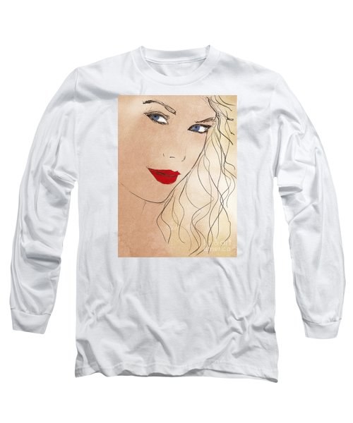 Taylor Red Lips Long Sleeve T-Shirt by Pablo Franchi