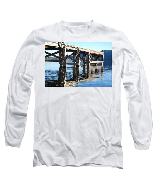 Long Sleeve T-Shirt featuring the photograph Te Anau Pier by Jocelyn Friis