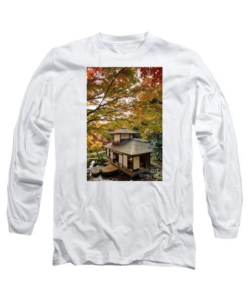 Long Sleeve T-Shirt featuring the photograph Tea Ceremony Room by Tad Kanazaki