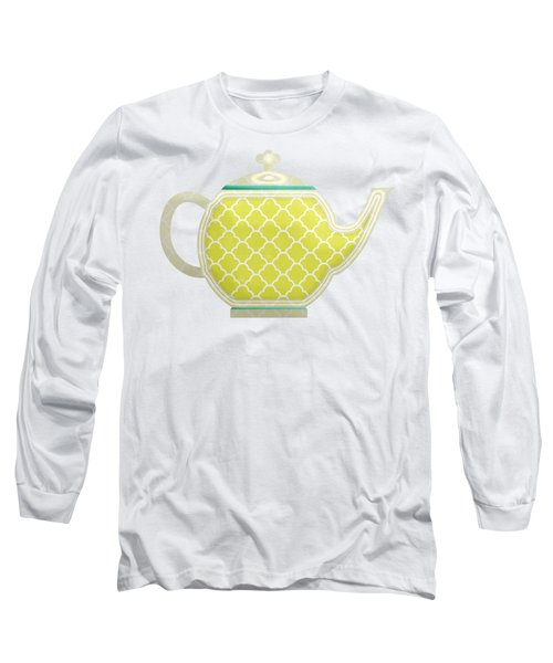 Teapot Garden Party 2 Long Sleeve T-Shirt by J Scott
