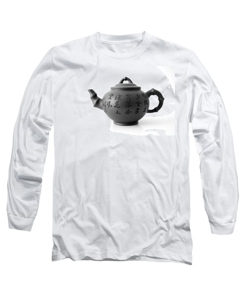 Long Sleeve T-Shirt featuring the photograph Teapot by Gina Dsgn