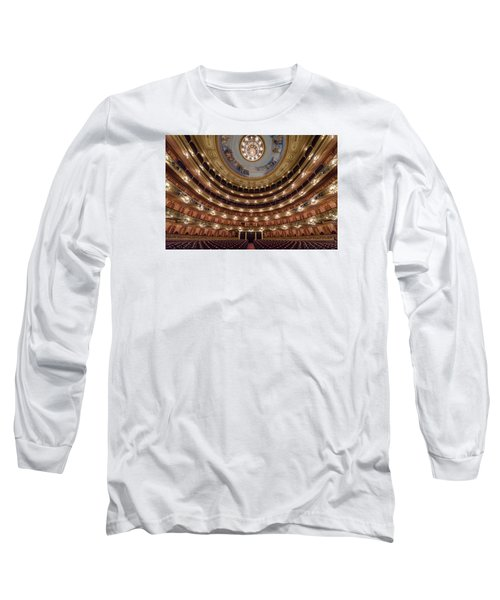 Teatro Colon Performers View Long Sleeve T-Shirt by Randy Scherkenbach