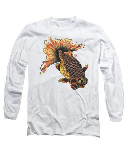Telescope Goldfish Long Sleeve T-Shirt by Shih Chang Yang