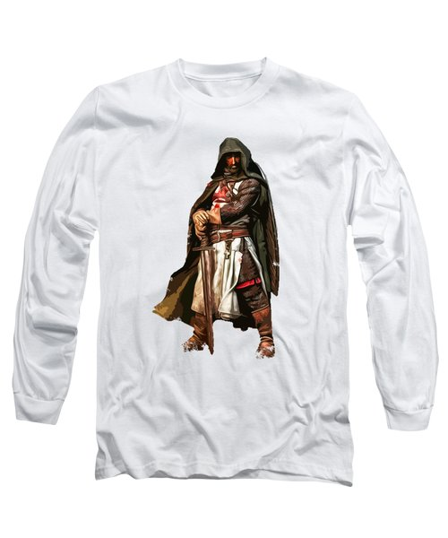 Templar Medieval Warrior Long Sleeve T-Shirt