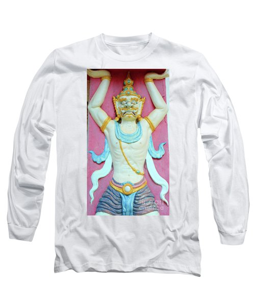 Temple Art In Thailand Long Sleeve T-Shirt