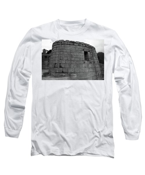 Long Sleeve T-Shirt featuring the photograph Temple Of The Sun, Machu Picchu, Peru by Aidan Moran