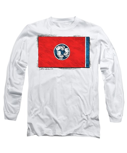 Tennessee Bathroom Flag Long Sleeve T-Shirt