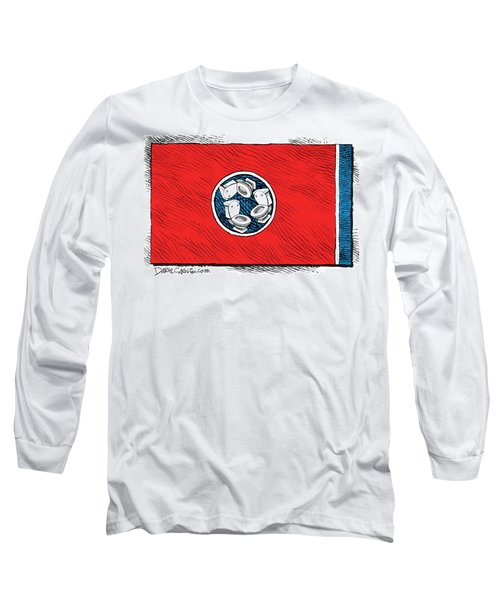 Tennessee Bathroom Flag Long Sleeve T-Shirt