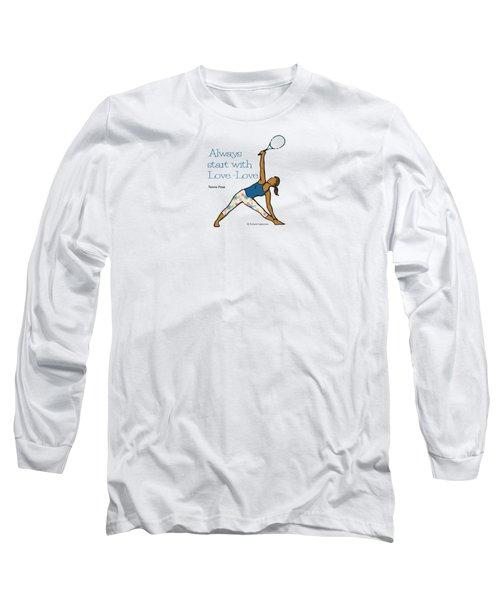 Tennis Pose 2 Long Sleeve T-Shirt