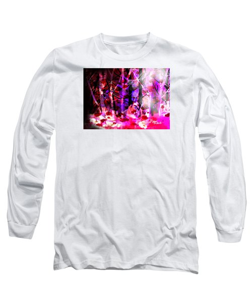 Long Sleeve T-Shirt featuring the digital art Tentative Hope by Diana Riukas