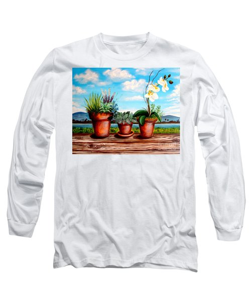 Terra Cotta Blues Long Sleeve T-Shirt