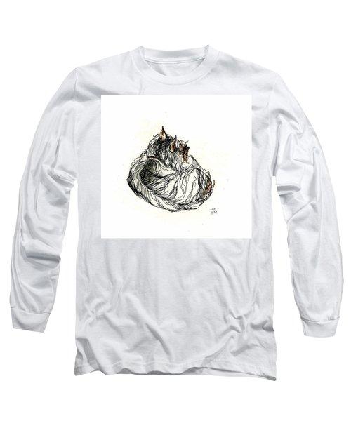 Terrier Sleeping - 1 Long Sleeve T-Shirt