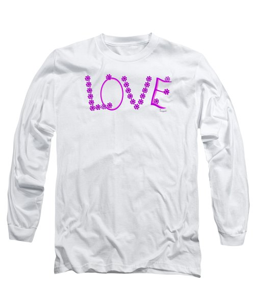 1281 -  Love    Colour Violet Long Sleeve T-Shirt by Irmgard Schoendorf Welch