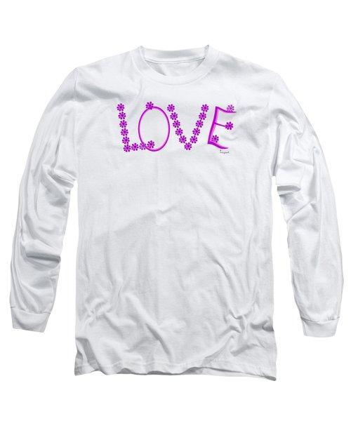 1281 -  Love    Colour Violet Long Sleeve T-Shirt