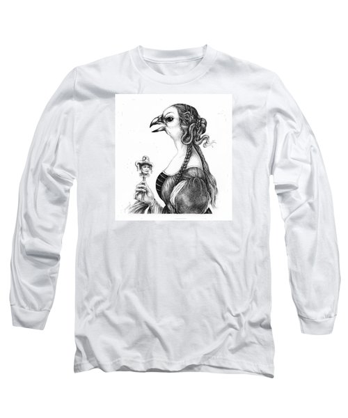 Tete-a-tete With Botticelli Long Sleeve T-Shirt by Yvonne Wright
