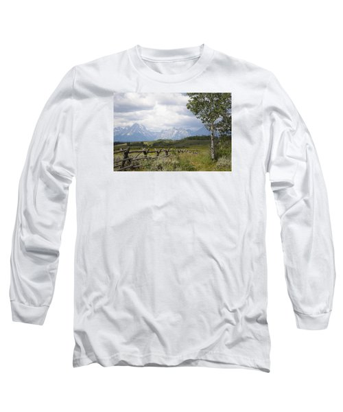 Teton Ranch Long Sleeve T-Shirt by Diane Bohna
