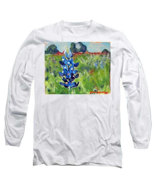 Texas Blue Bonnet Long Sleeve T-Shirt