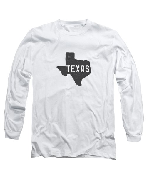 Texas Map Tee Long Sleeve T-Shirt