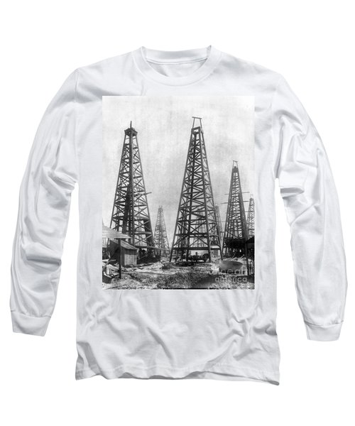 Texas: Oil Derricks, C1901 Long Sleeve T-Shirt