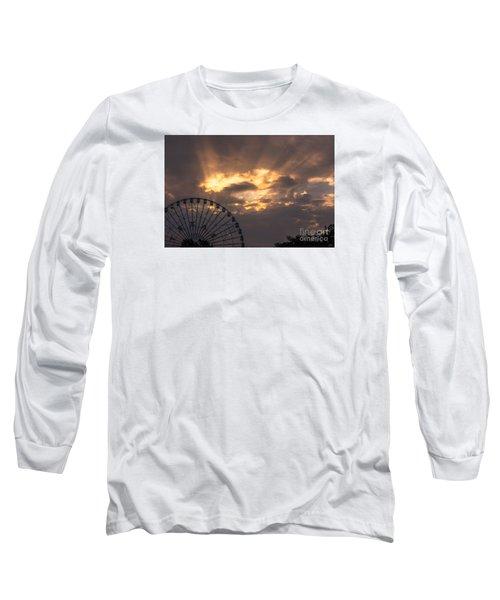 Texas Star Ferris Wheel And Sun Rays Long Sleeve T-Shirt