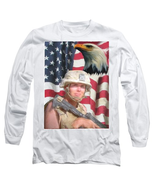 Texas Warrior Long Sleeve T-Shirt by Ken Pridgeon