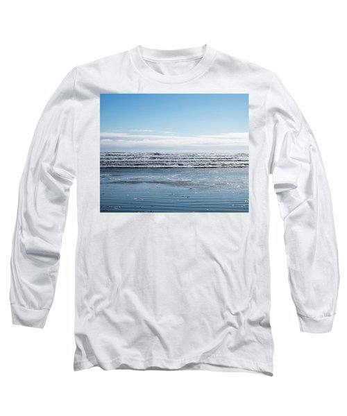 Textured Blues Long Sleeve T-Shirt