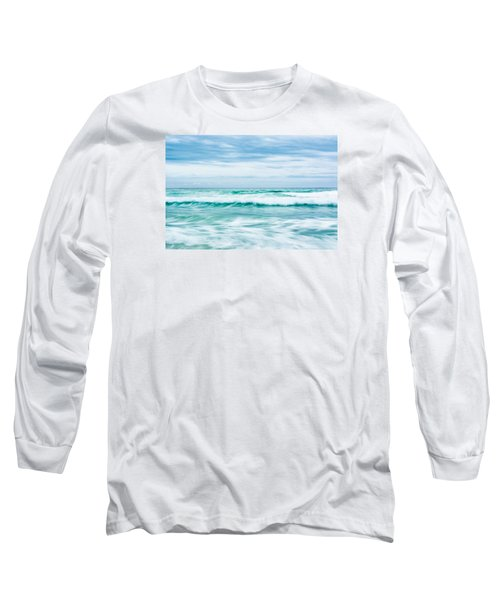 Textures In The Waves Long Sleeve T-Shirt by Shelby  Young