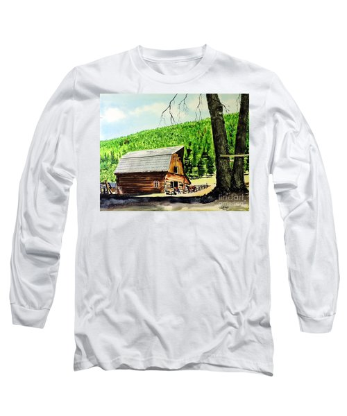 That Barn From That Movie Long Sleeve T-Shirt by Tom Riggs