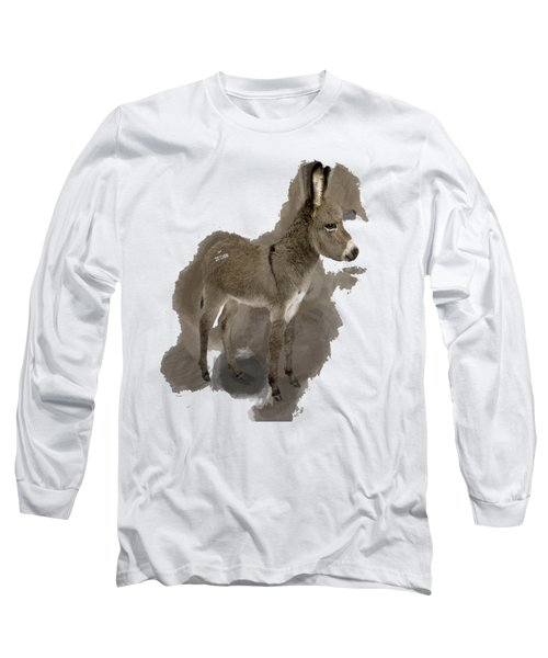That Cute Donkey Foal In Profile Long Sleeve T-Shirt