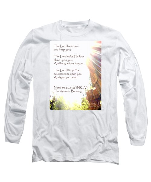 The Aaronic Blessing And True Light Lower Emerald Pools Zion Long Sleeve T-Shirt
