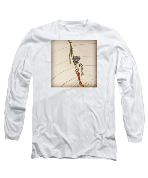 Long Sleeve T-Shirt featuring the drawing The Aliens Least Favorite Dream by Similar Alien