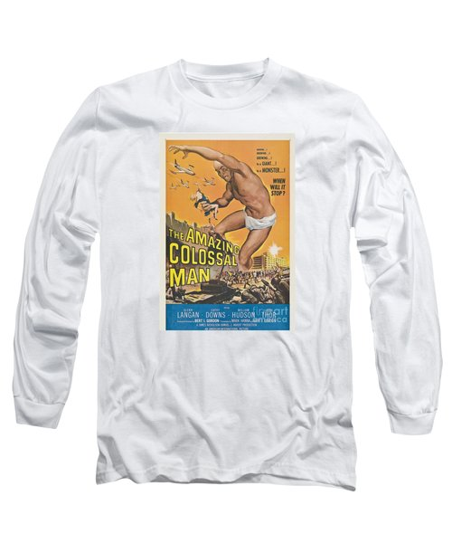 The Amazing Colossal Man Movie Poster Long Sleeve T-Shirt