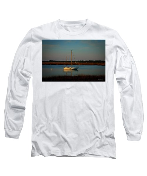 The Anchor Holds 2 Beaufort South Carolina Sailboat Art  Long Sleeve T-Shirt