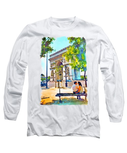 The Arc De Triomphe Paris Long Sleeve T-Shirt