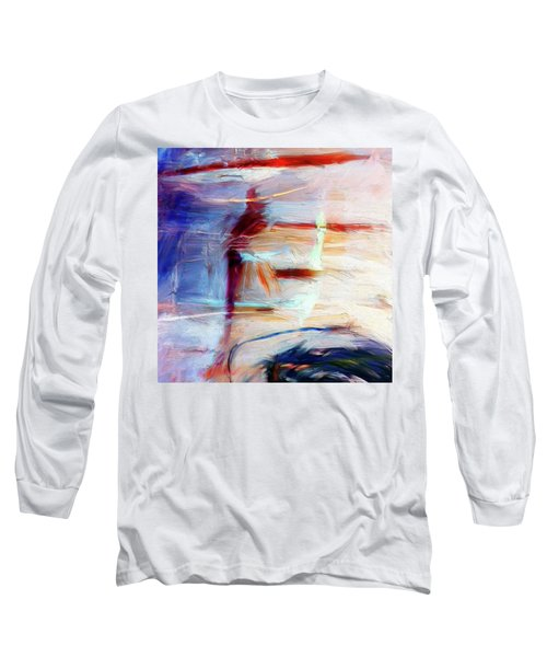 Long Sleeve T-Shirt featuring the painting The Auberge by Dominic Piperata