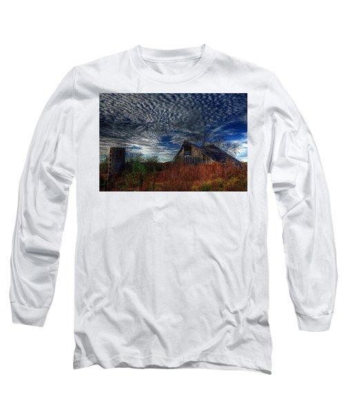 The Barn At Twilight Long Sleeve T-Shirt by Karen McKenzie McAdoo