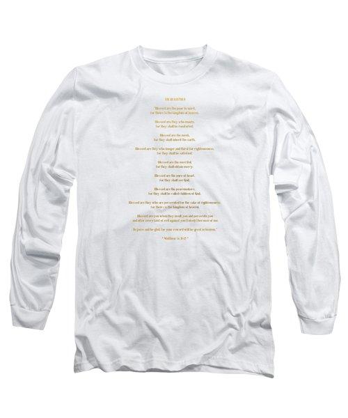 The Beatitudes Gospel Of Matthew Long Sleeve T-Shirt