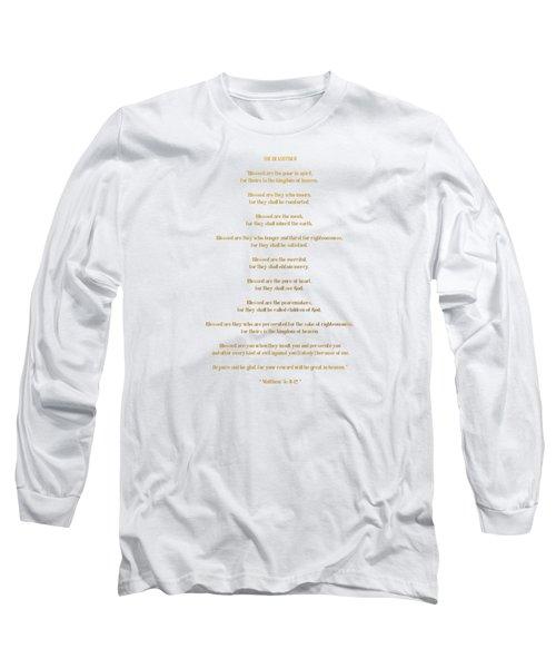 Long Sleeve T-Shirt featuring the digital art The Beatitudes Gospel Of Matthew by Rose Santuci-Sofranko