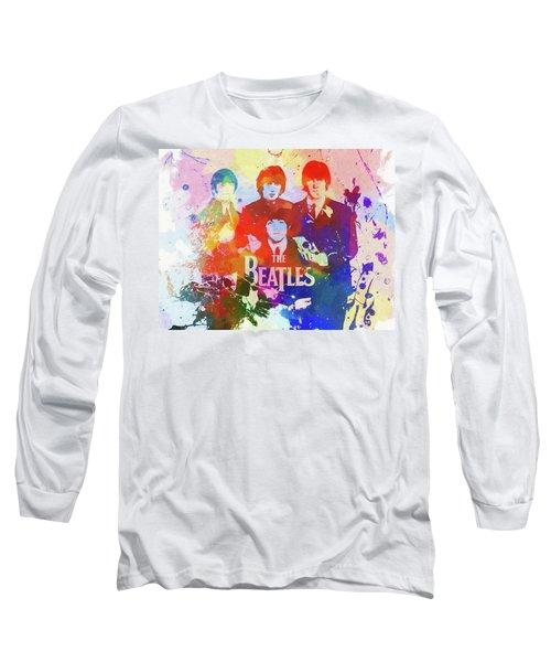 The Beatles Paint Splatter  Long Sleeve T-Shirt