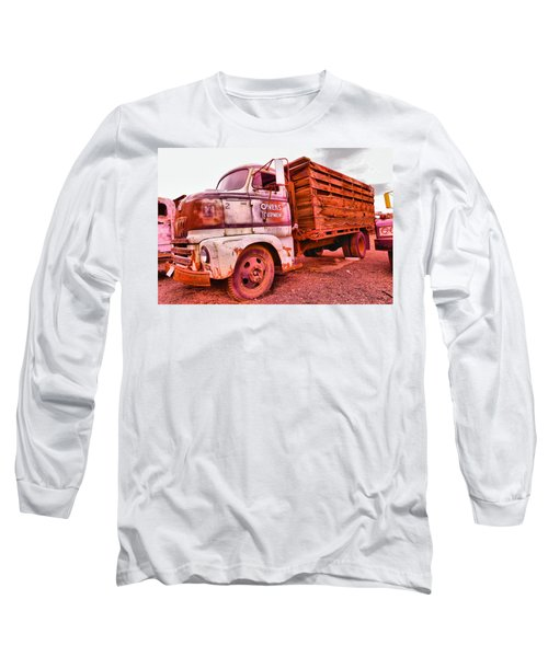 Long Sleeve T-Shirt featuring the photograph The Beauty Of An Old Truck by Jeff Swan